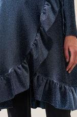 Lurex Jersey Slå-Om-Kjole, Serenity Blue, hi-res