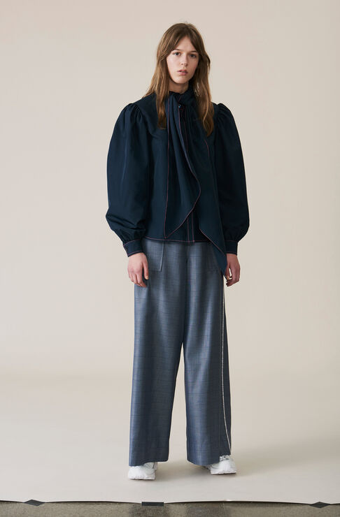 Merkel Wide Pants, Serenity Blue, hi-res