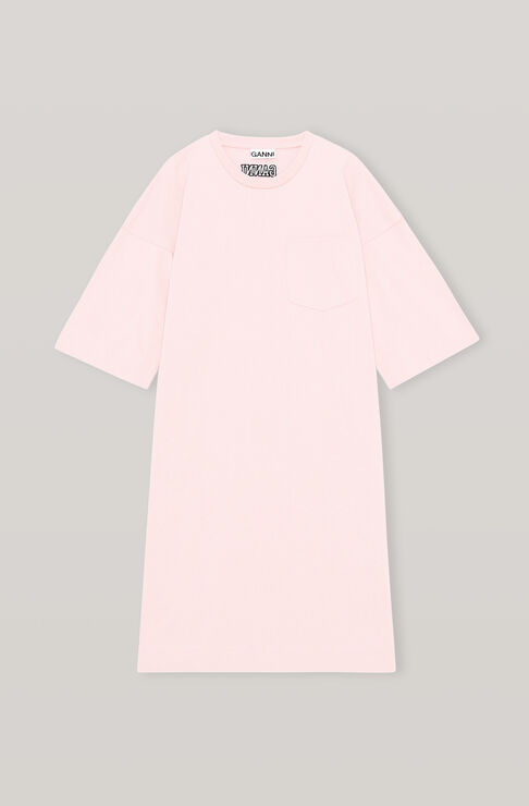 Ganni SOFTWARE JERSEY RELAXED T-SHIRT DRESS