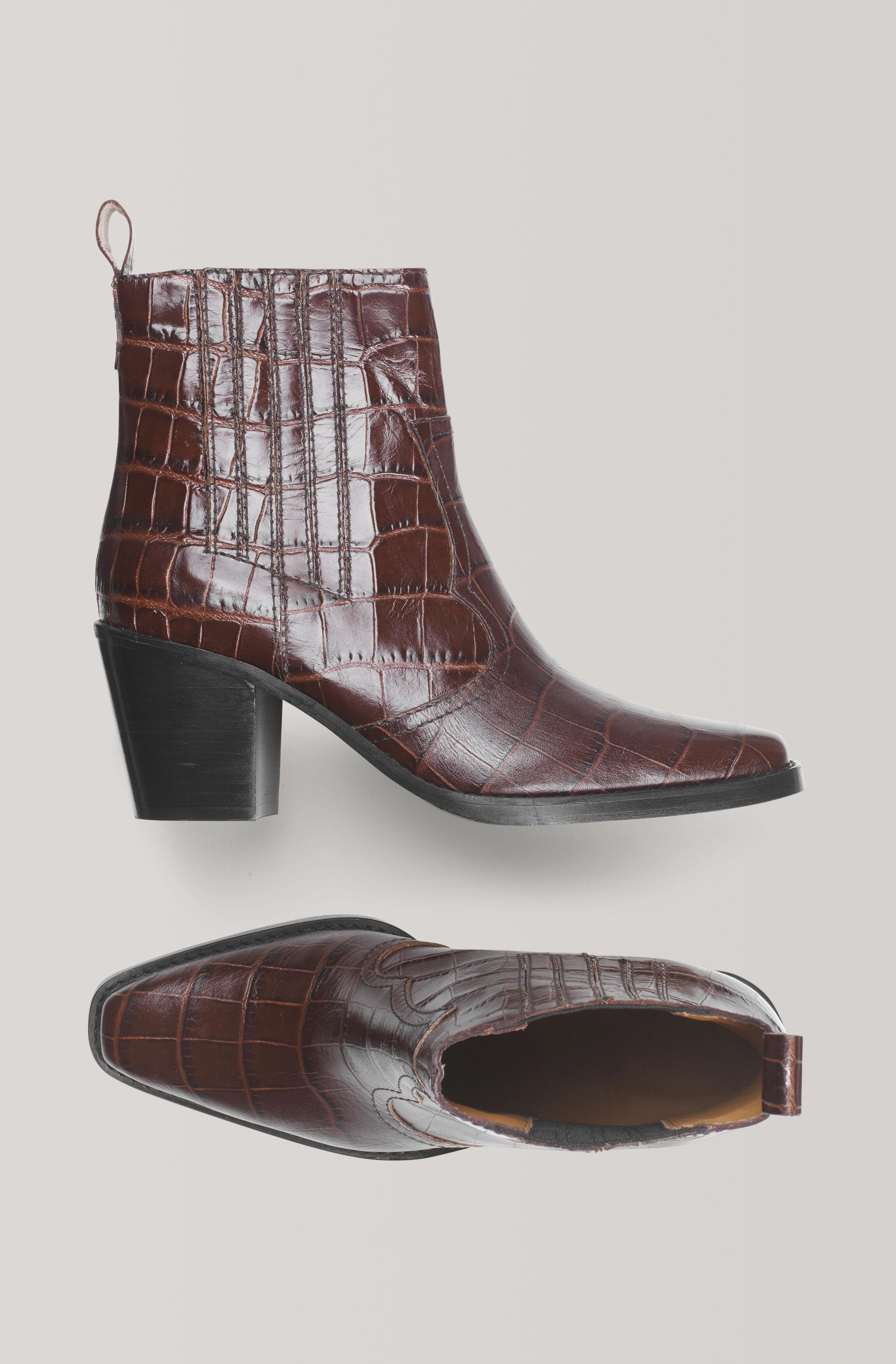 ganni croc boots