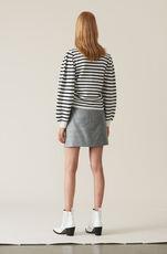 Silk Wool Suiting Miniskjørt, Paloma Melange, hi-res