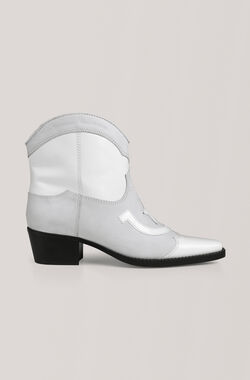 Low Texas Ankle Boots, Bright White, hi-res