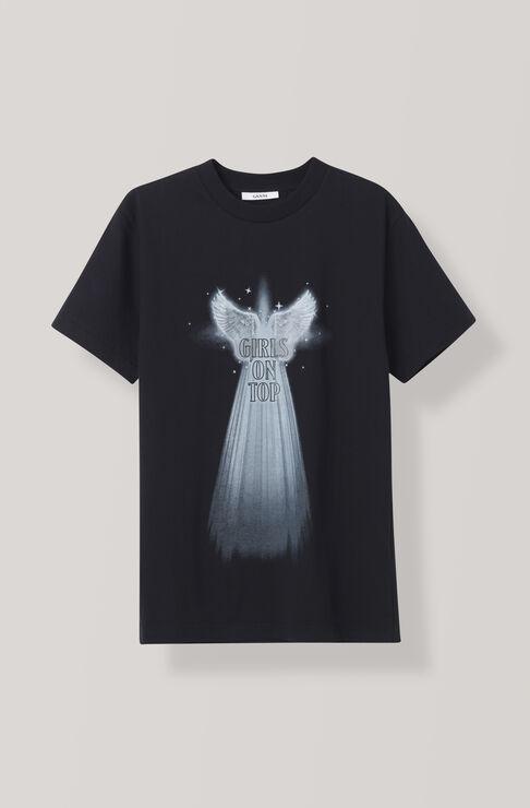 Harris T-shirt, Angel Wings, Black, hi-res