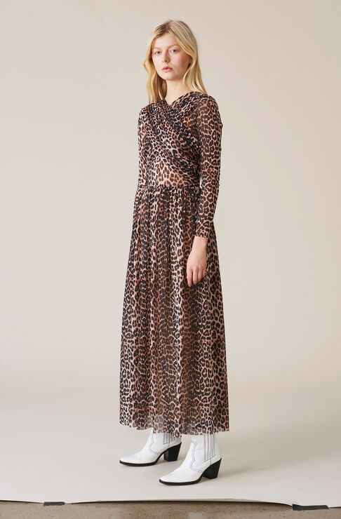 Tilden Mesh Maxi Dress, Leopard, hi-res