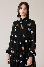 Dainty Georgette Dress, Black, hi-res