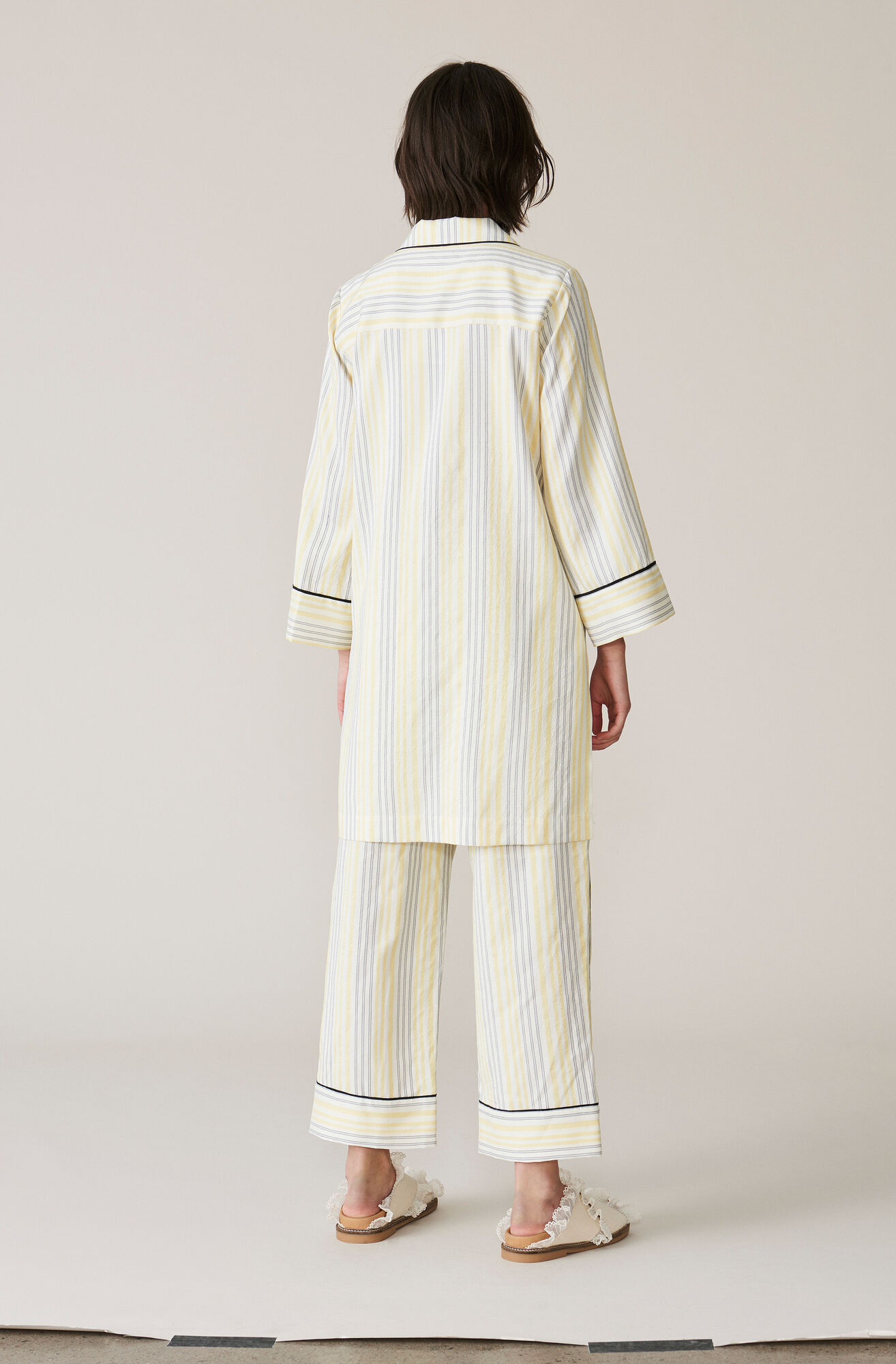 Bergamot Silk Shirt Dress, Vanilla Ice, hi-res