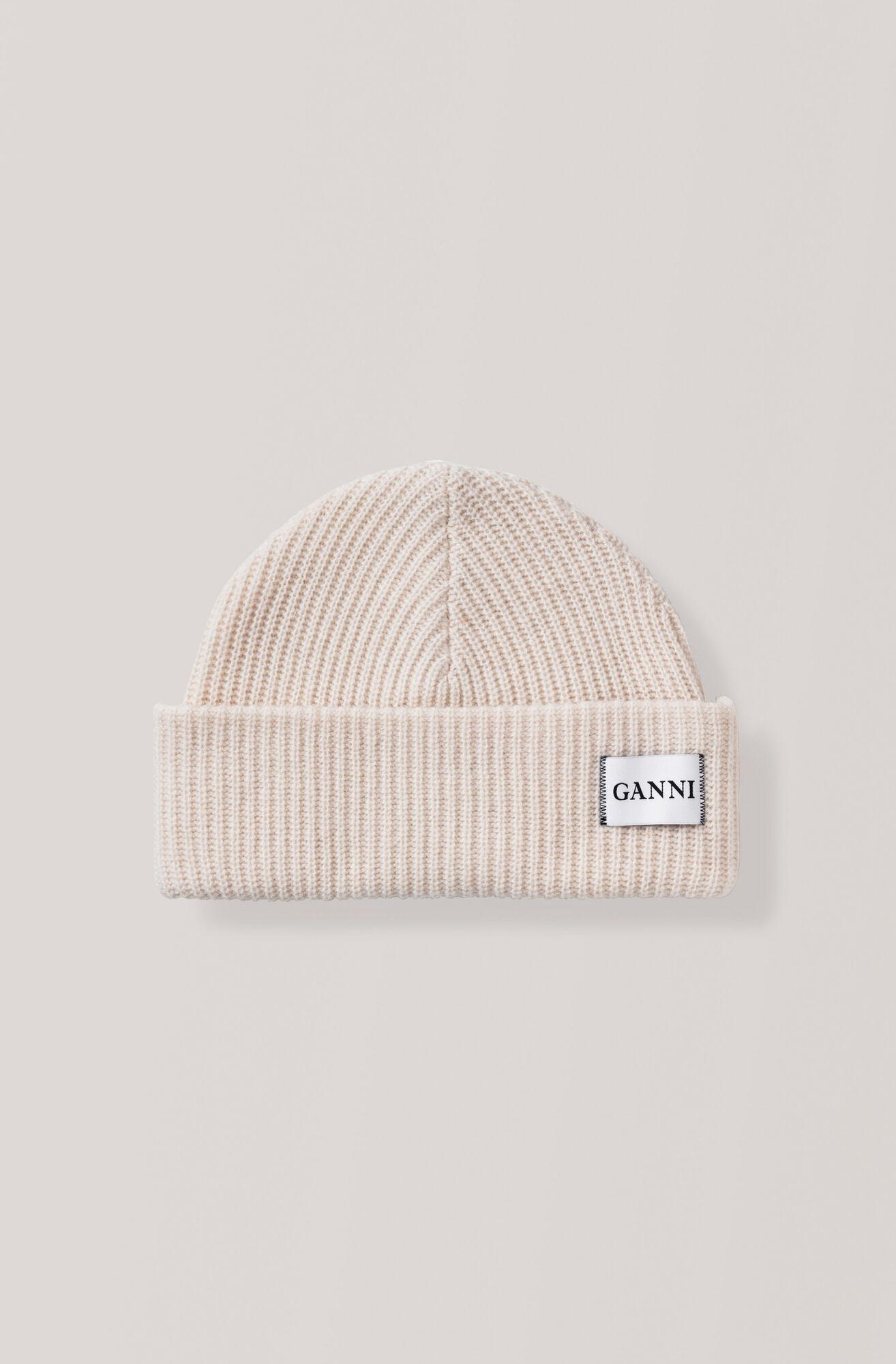 Knit Hat, Egret, hi-res