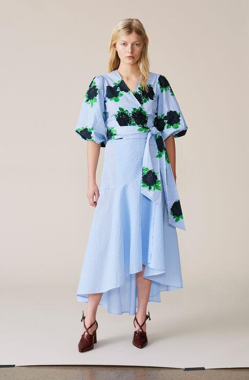 Charron Wrap Skirt, Serenity Blue, hi-res