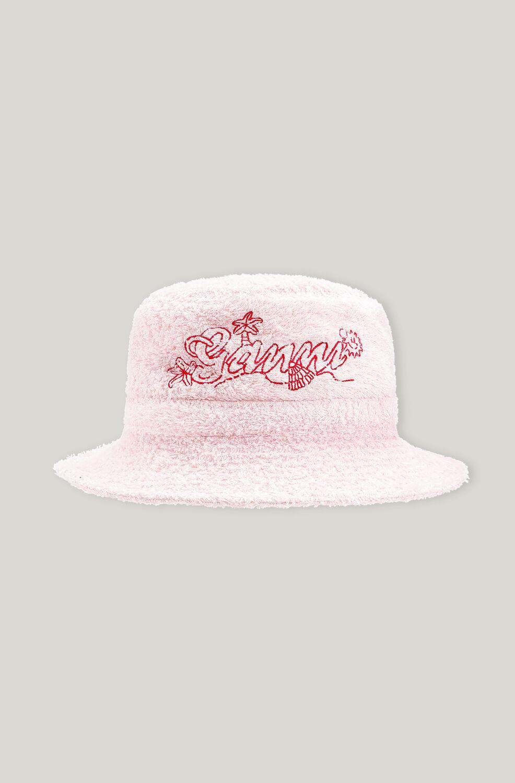 가니 버킷햇 Ganni Beach Terry Terry Bucket Hat,Mary