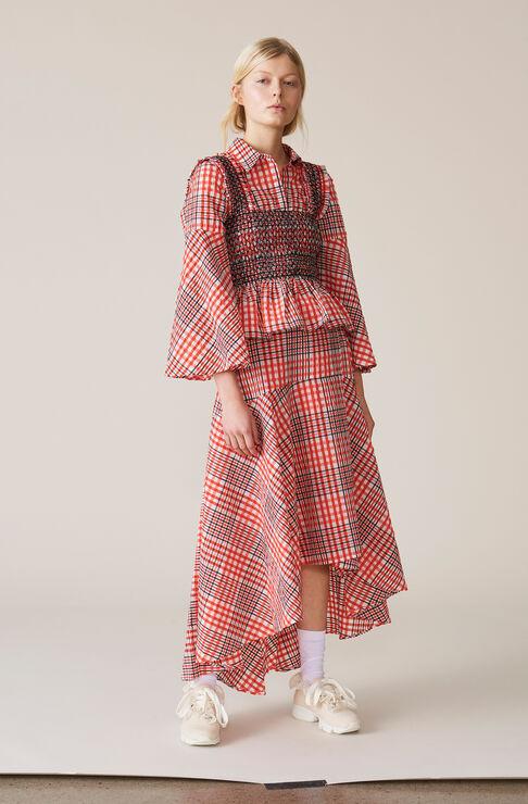 Charron Wrap Skirt, Big Apple Red, hi-res