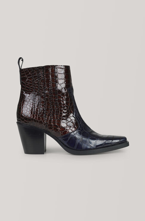 Western Ankle Boots, Ganache, hi-res