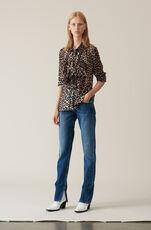 Printed Georgette Shirt, Leopard, hi-res