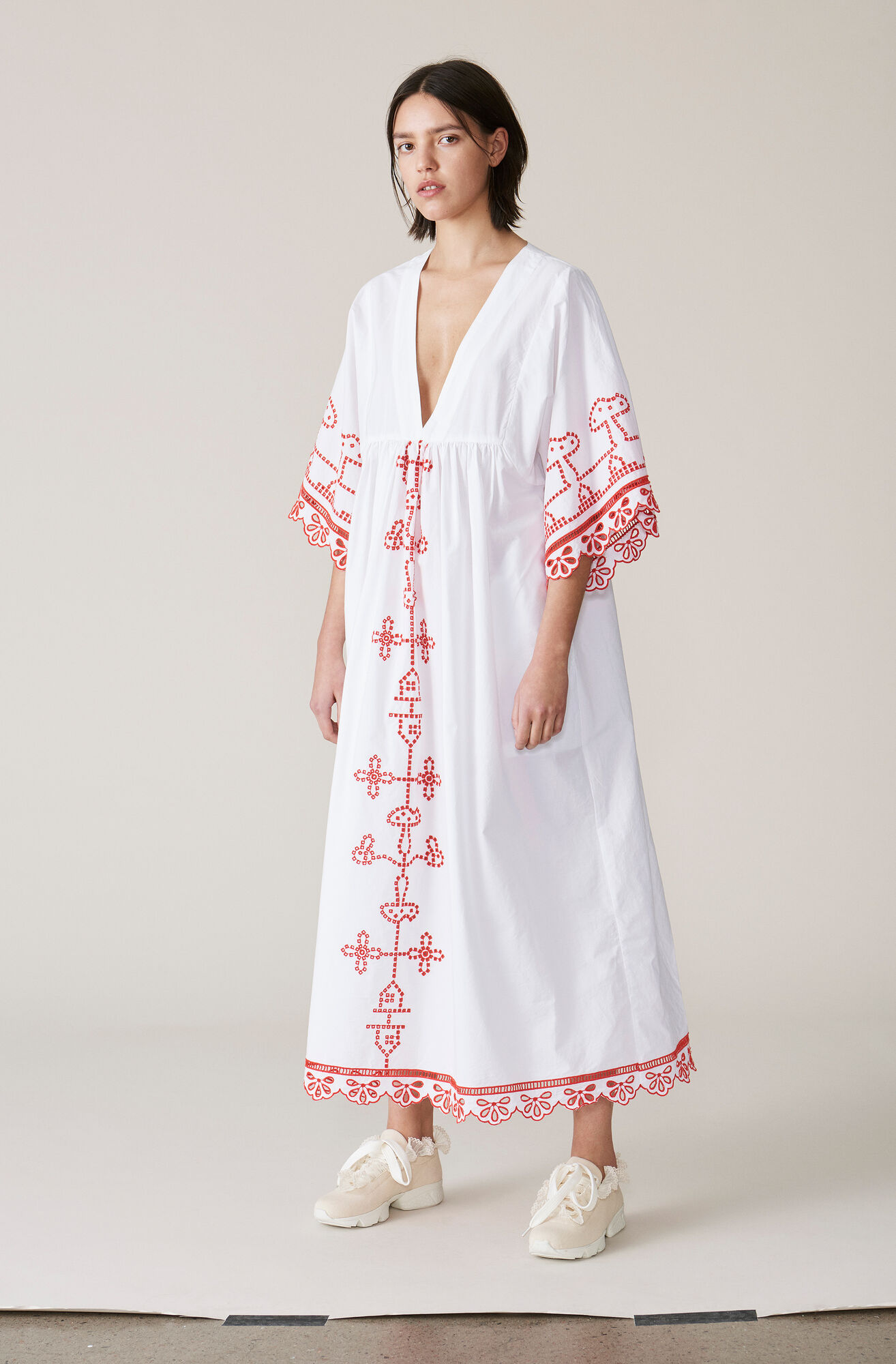 Peony Maxi Dress, Bright White, hi-res