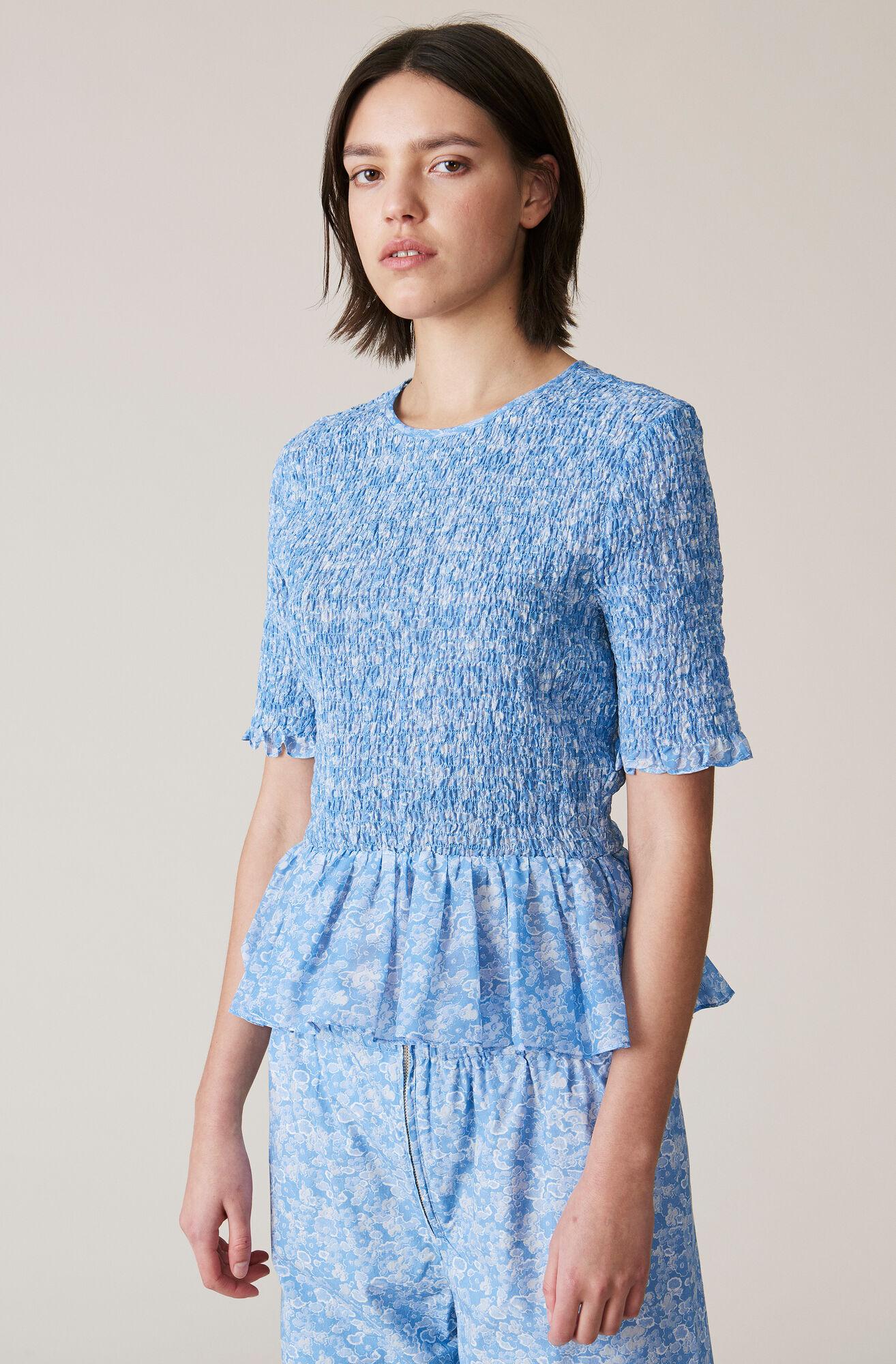 Linaria Blouse, Serenity Blue, hi-res
