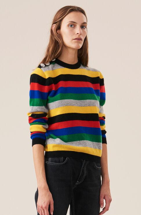 Cashmere Knit Pullover, Multicolour, hi-res