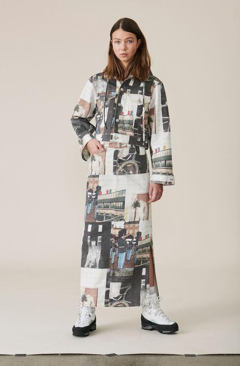 Denim Maxi skirt, Multicolour, hi-res