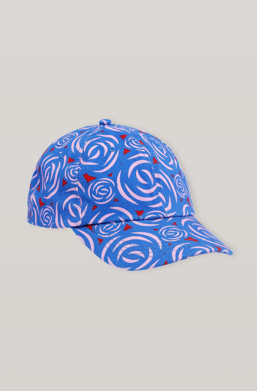 가니 플라워 볼캡 모자 Ganni Cotton Canvas Hats Cap,Flower Print
