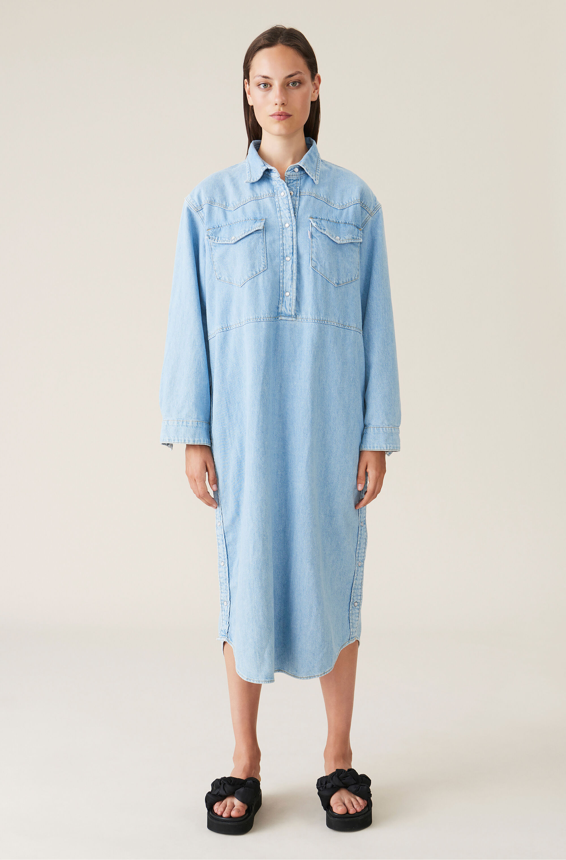 Indigo denim dress