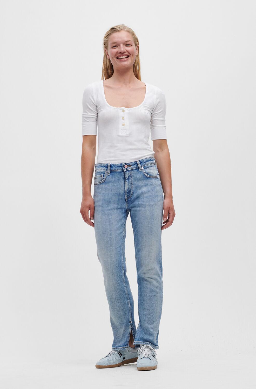 가니 청바지 Ganni Beksi Jeans,Light Blue Vintage