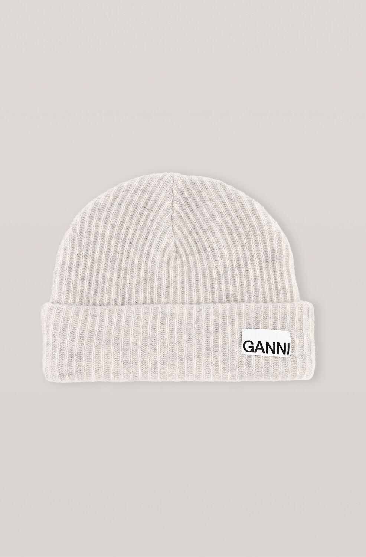 가니 울 니트 비니 Ganni Recycled Wool Knit Hat,Paloma Melange