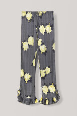 Calla Silk Pants, Black, hi-res