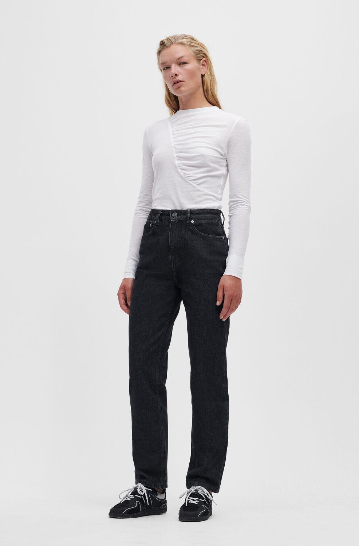 가니 블랙진 Ganni Swigy Jeans,Black/White Stone