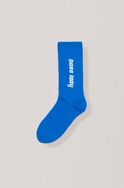 Print Ankle Socks, Boss Lady, Lapis Blue, hi-res