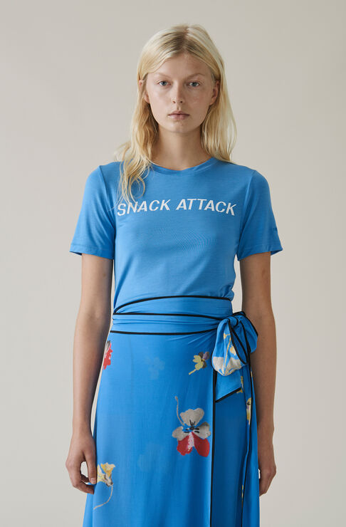 Linfield Lyocell T-shirt, Snack Attack, Marina, hi-res