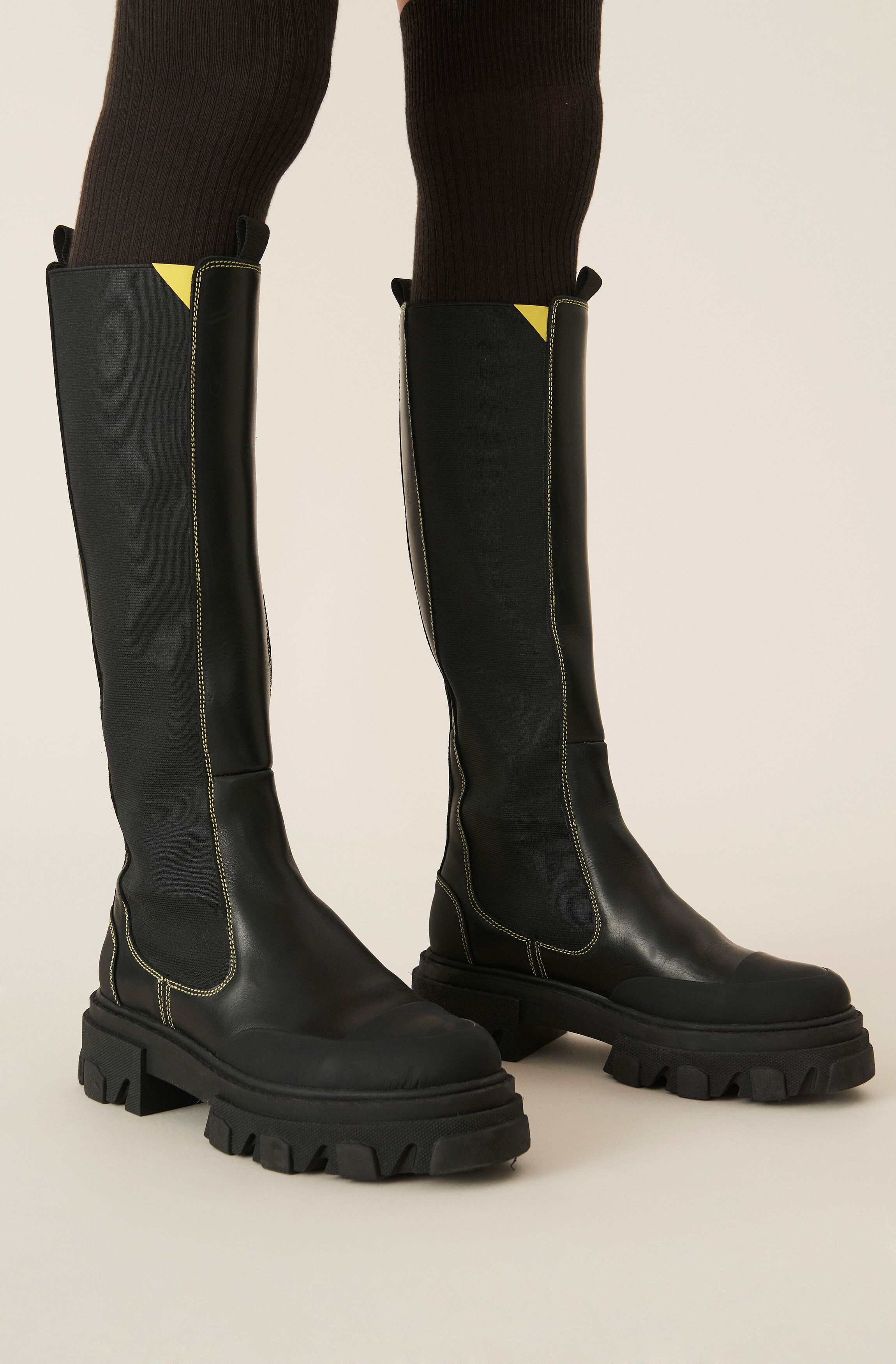 Calf Leather High Chelsea Boot
