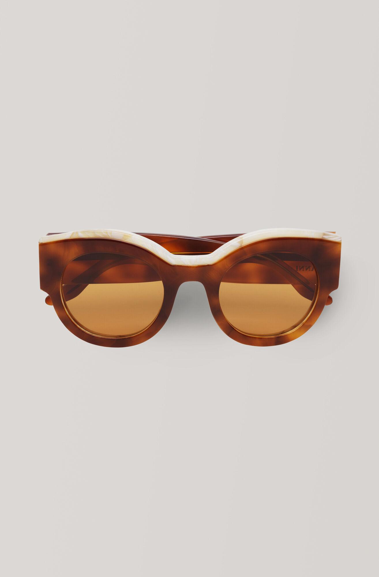 Round Sunglasses Sonnenbrille, Caramel Café, hi-res