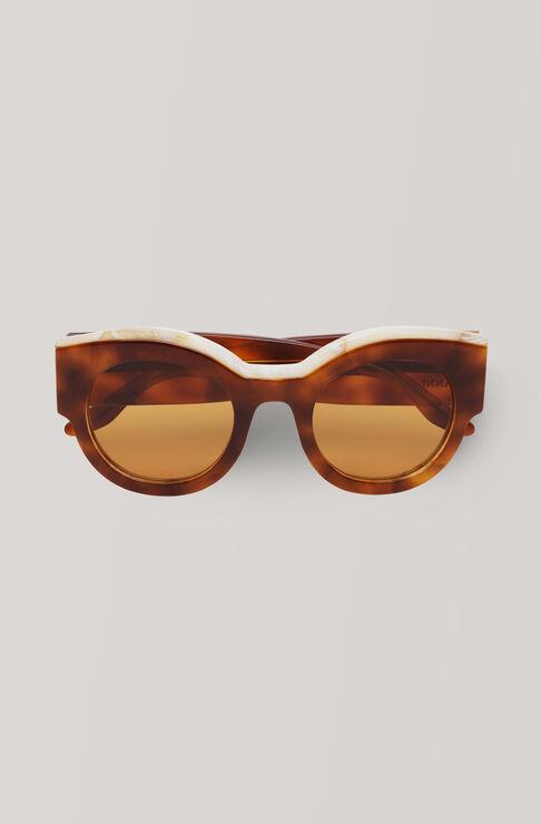 Round Sunglasses Solbriller, Caramel Café, hi-res