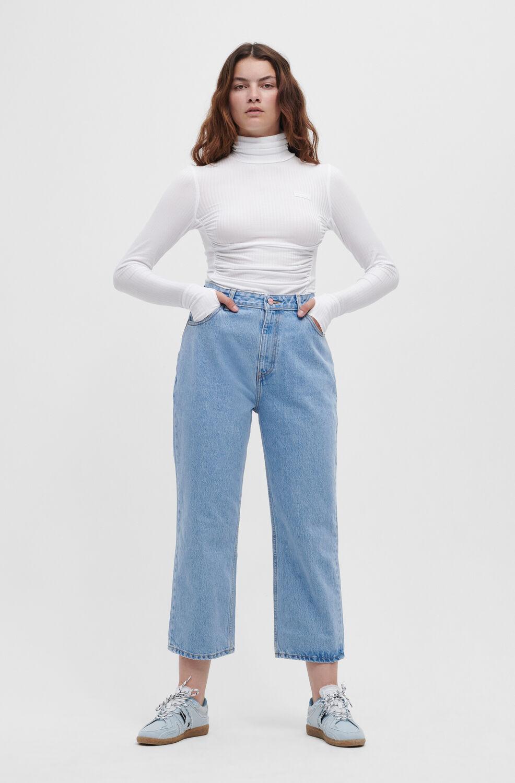 가니 청바지 Ganni Misy Jeans,Light Blue Stone