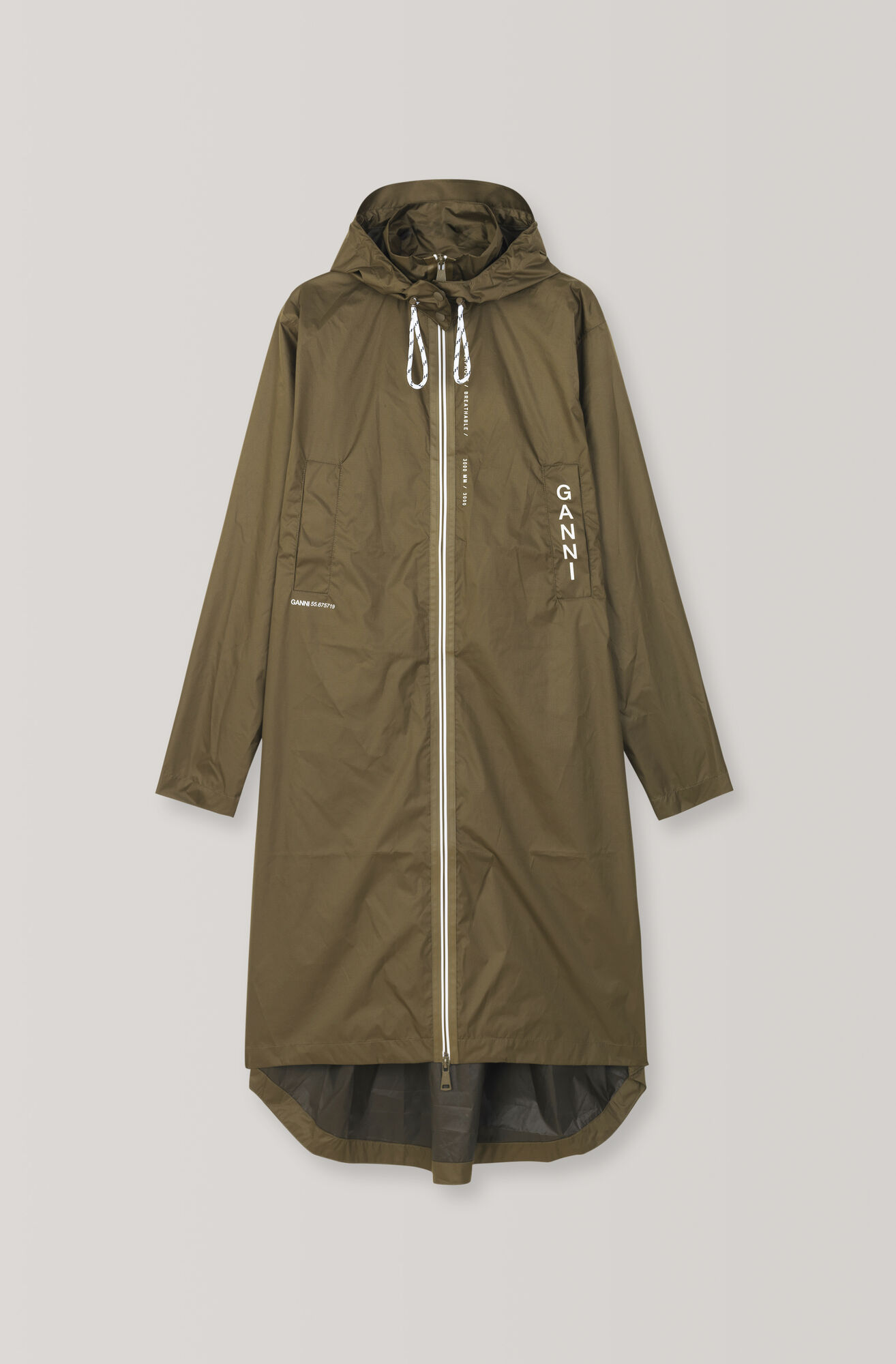 Tansy Rain Coat, Dark Olive, hi-res