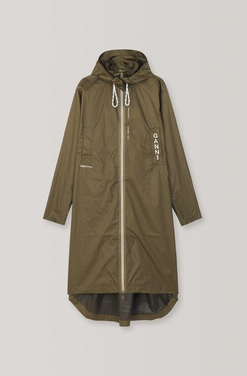 Tansy Rain Coat, Dark Olive, hi-res