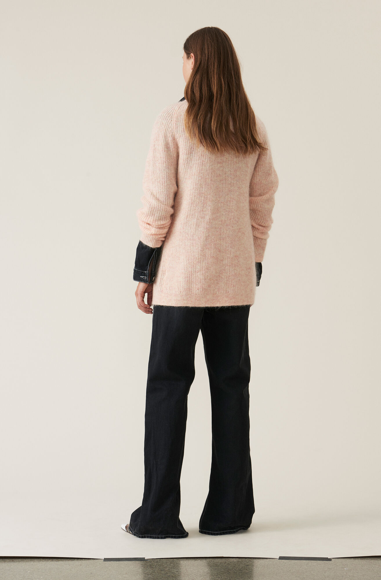 Soft Wool Knit Cardigan, Silver Pink, hi-res