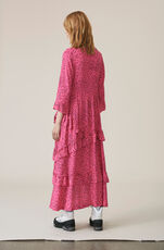 Barra Crepe Maxi Dress, Hot Pink, hi-res