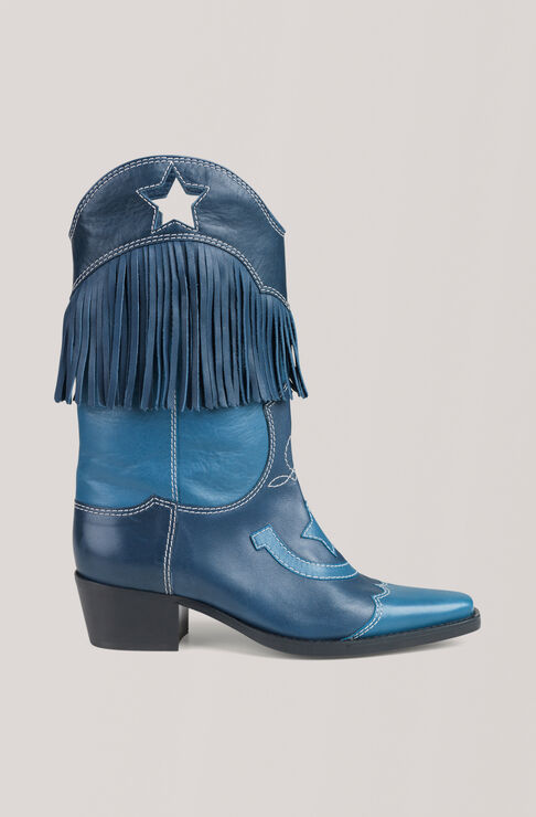 Texas Fringes Stiefel, Total Eclipse, hi-res