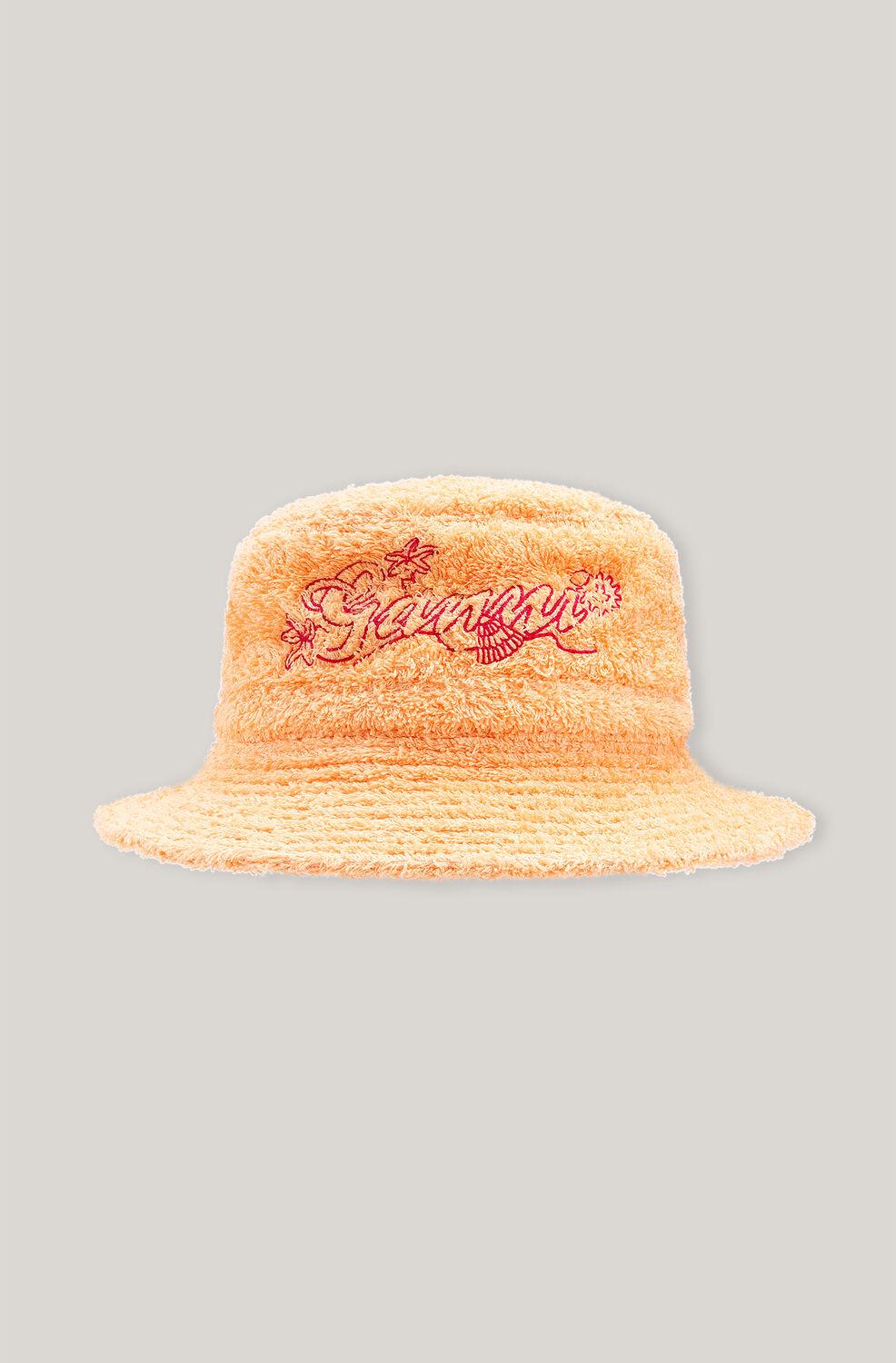 가니 버킷햇 Ganni Beach Terry Terry Bucket Hat,Peach Fuzz