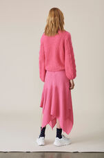 Lynch Seersucker Skirt, Hot Pink, hi-res