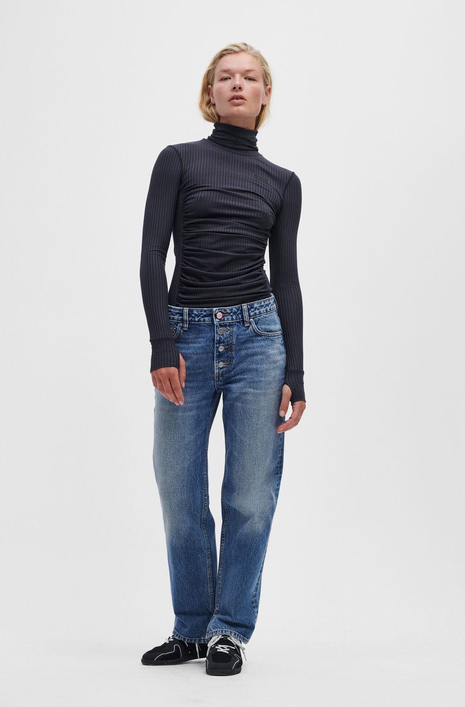 가니 청바지 Ganni Lovy Jeans,Mid Blue Vintage