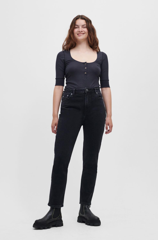가니 블랙진 Ganni Cutye Jeans,Washed Black/Black