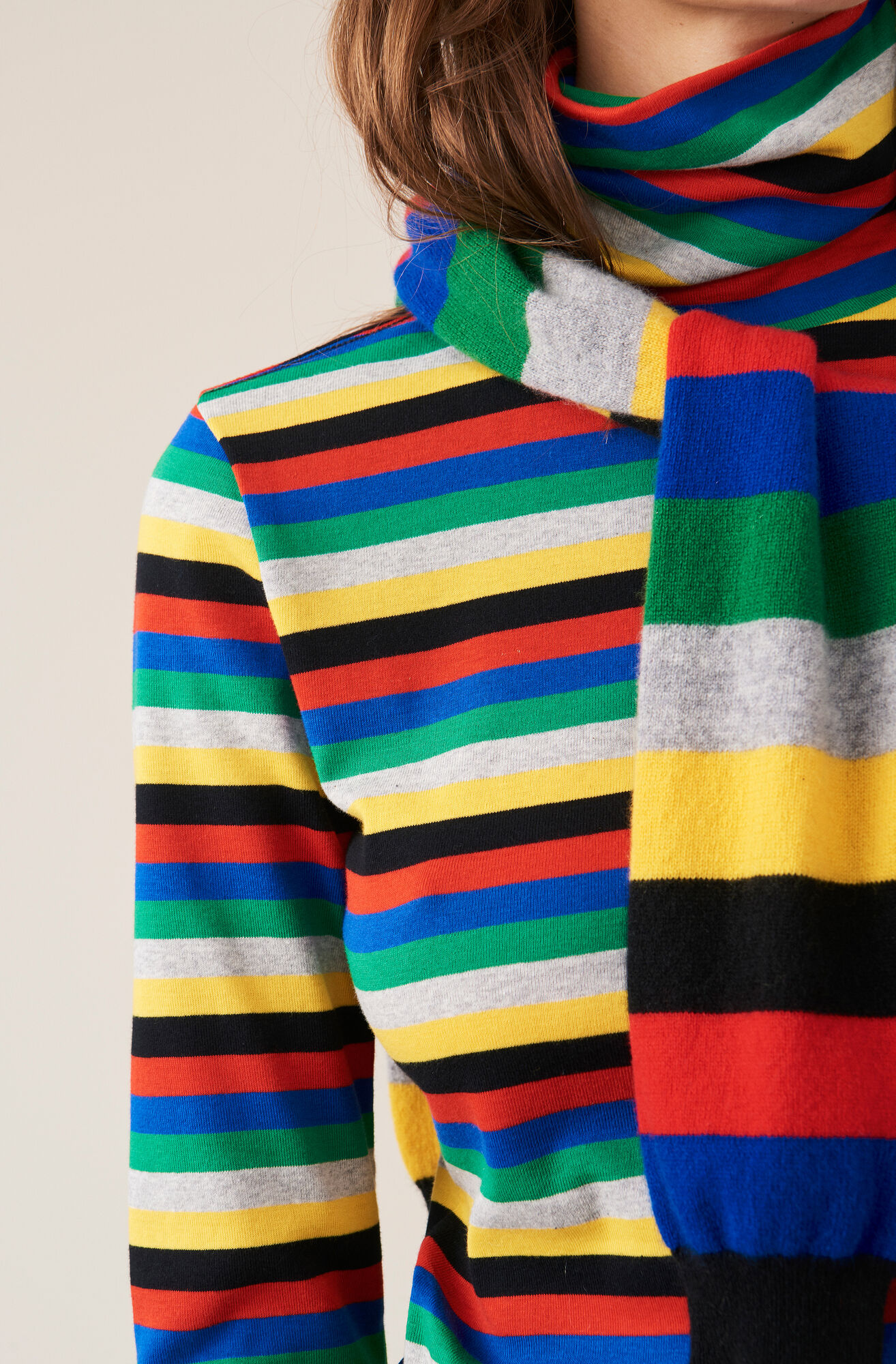 Rullkrage, Stripes, Multicolour, hi-res