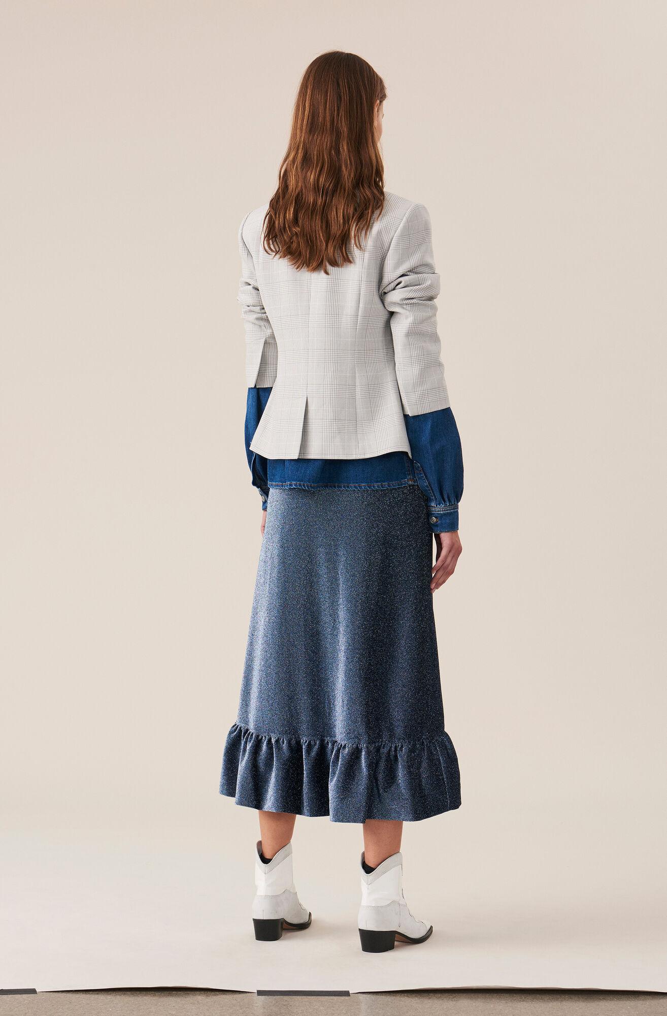 Lurex Jersey Slå-Om-Nederdel, Serenity Blue, hi-res