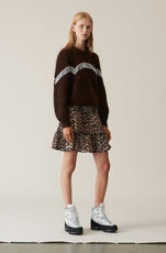 Heavy Soft Wool Knit Puff Sleeve Pullover, Caramel Café, hi-res