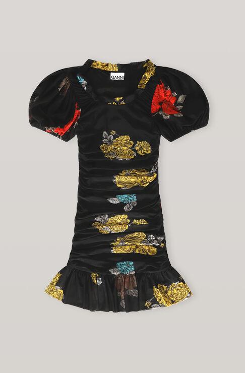 Ganni Mini dresses PRINTED MESH MINI DRESS