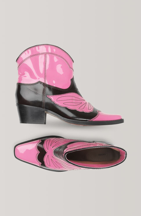 Low Texas Ankle Boots, Hot Pink, hi-res