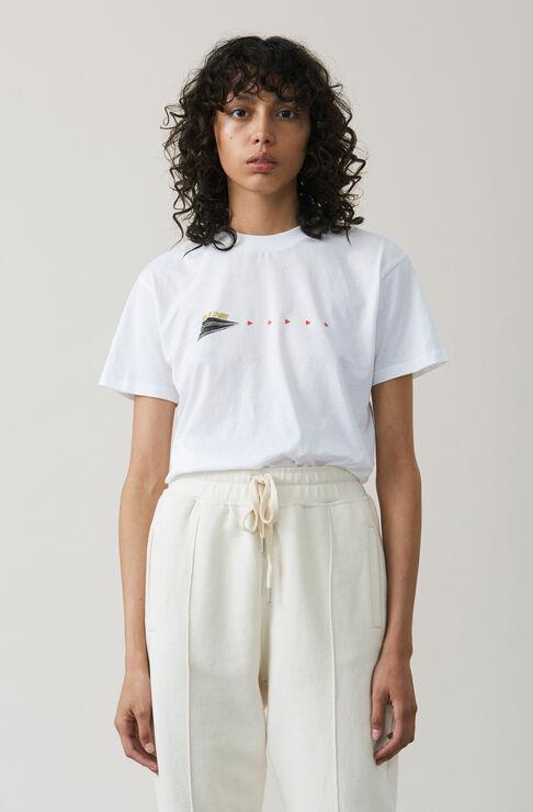 Harway T-shirt, Paper Plane, Bright White, hi-res