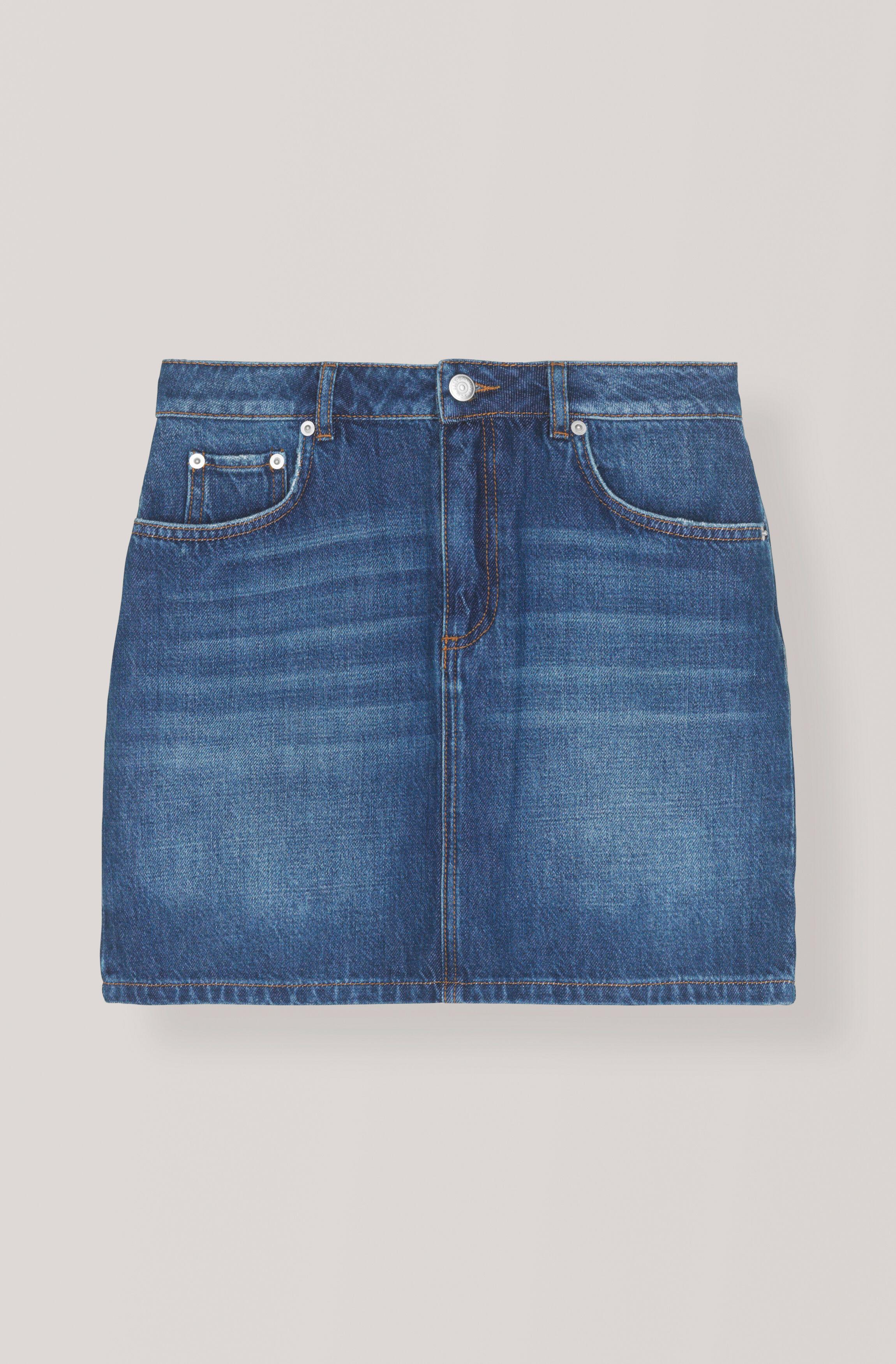 e34cade31534 GANNI Classic Denim Skirt - Medium Dark Denim ( 140.00 GBP )