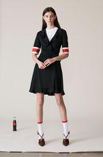 Dubois Polo Wrap Dress, Black, hi-res