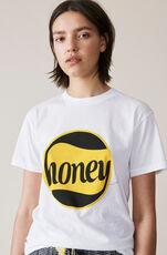 Harway T-shirt, Honey, Bright White, hi-res